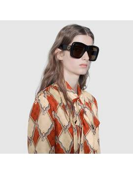 Oversize Square Frame Sunglasses by Gucci