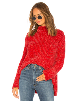 Bouncy Chenille Mock Neck by 525 America