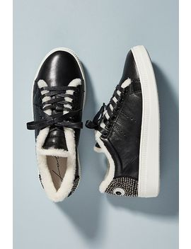 Lola Cruz Eyes Leather Sneakers by Lola Cruz