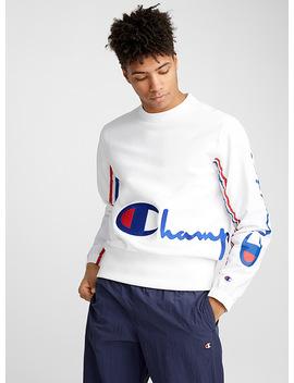 Nylon Sleeve Logo Sweatshirt by Champion Reverse Weave