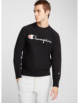 Script Logo Premium Sweatshirt by Champion Reverse Weave