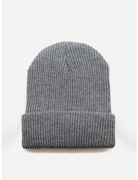 Men Plain Beanie Hat by Sheinside