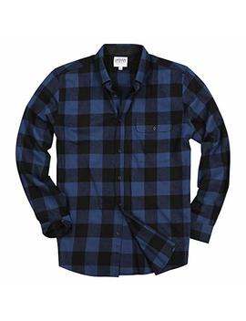 Urban Boundaries Men's Long Sleeve Flannel Shirt W/Point Button Down Collar Options by Urban Boundaries
