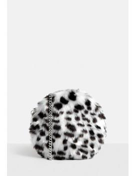 Multi Dalmation Faux Fur Bag by Missguided
