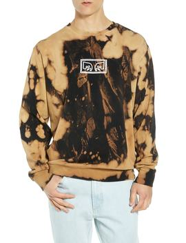 jumbled-eyes-bleachy-sweatshirt by obey