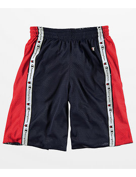 Champion Navy & Red Reversible Mesh Shorts by Champion