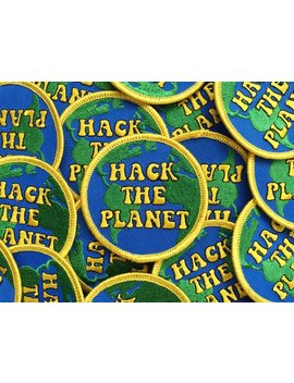 Hack The Planet  : Hackers / 70s Inspired Embroidered Patch by Etsy