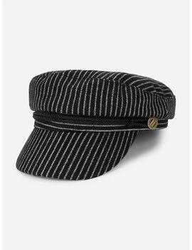 Button Detail Baker Boy Hat by Sheinside