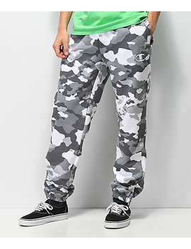 Champion White Camo Super Fleece Sweatpants by Champion