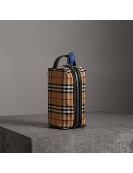 Vintage Check And Leather Pouch by Burberry