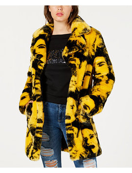 Pia Faux Fur Coat by Guess