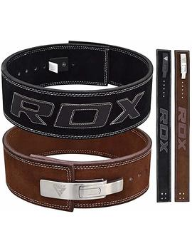 rdx-gym-weight-lifting-lever-buckle-powerlifting-belt-cow-hide-leather-fitness-exercise-bodybuilding by rdx