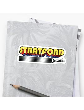 Stratford, Ontario | Retro Stripes by Retroready