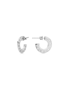 Silver Mini Aztec Hoops by Missoma