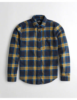 Plaid Flannel Slim Fit Shirt by Hollister