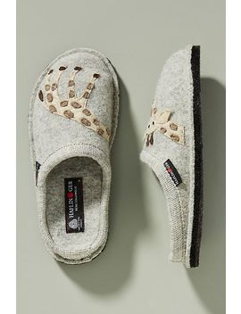 Haflinger Shelley Giraffe Slippers by Haflinger