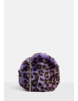 Purple Leopard Print Cross Body Bag by Missguided