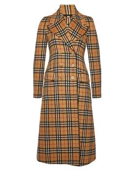 Aldermoor Alpaca Coat With Wool by Burberry