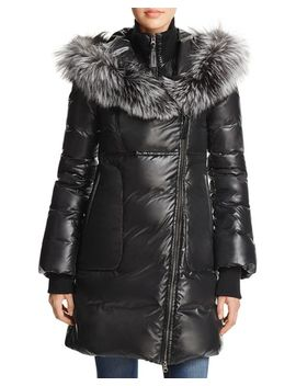 Lizette Fox Fur Trim Down Coat   100 Percents Exclusive by Mackage
