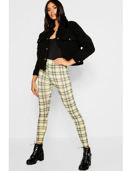 Check Legging by Boohoo