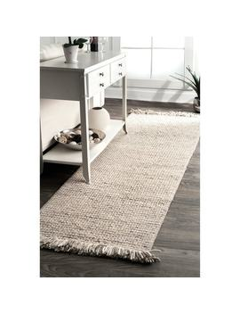 Nu Loom Handmade Ornate Felted Wool Dhurrie Fancy Runner Rug by Nuloom