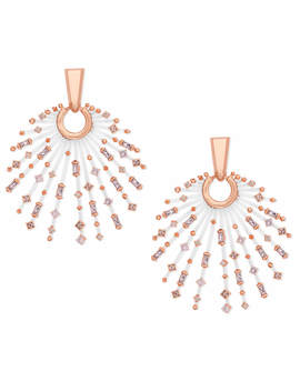 Fabia Rose Gold Statement Earrings In Blush Mix by Kendra Scott