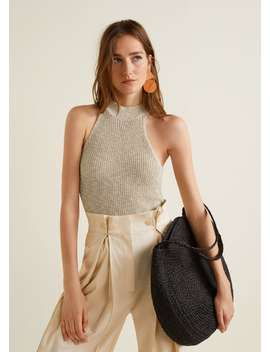 Knit Halter Top by Mango