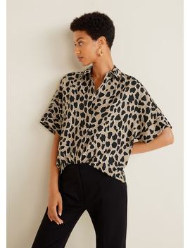 Skjorte Med Leopardtrykk by Mango