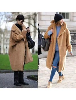 Luxury Womens Winter Coat Teddy Bear Feel Long Oversized Thick Fur Maxi Jacket by Ebay Seller