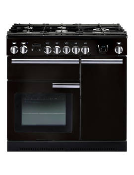 Rangemaster Professional+ 90 Gas Range Cooker, Gloss Black by Rangemaster