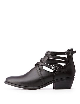 Buckle Ankle Booties by Charlotte Russe