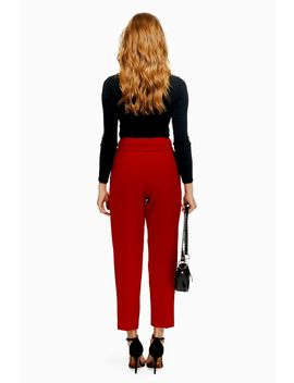 Covered Belt Tapered Trousers by Topshop