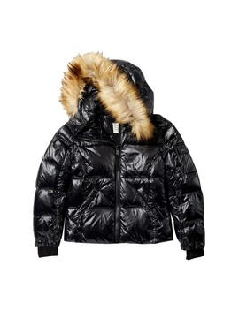 Gloss Down Jacket With Faux Fur Trim (Big Girls) by S13