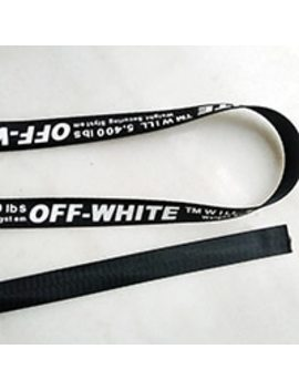 2.5cm Medium Thickness Off White Printing Ribbon Printing Letter Belt Backpack Belt Decoration Tape Diy Garment Accessories by Ali Express