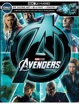 Ay/Blu Ray] [Only @ Best Buy] [2012] by Marvel's The Avengers [Steel Book] [Digital Copy] [4 K Ultra Hd Bl