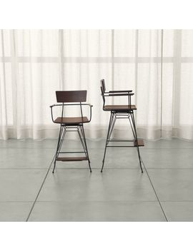 Elston Swivel Bar Stools by Crate&Barrel