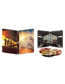 Ay/Blu Ray] [Only @ Best Buy] [2018] by Solo: A Star Wars Story [Steel Book] [4 K Ultra Hd Bl