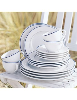 Apilco Tradition Blue Banded Porcelain Dinner Plates by Williams   Sonoma