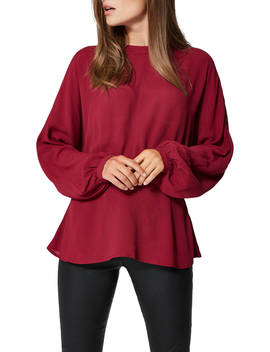 Selected Femme Baliva Blouse, Beet Red by Selected Femme