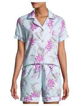 Wisteria Shorty Pajama Set by Bedhead