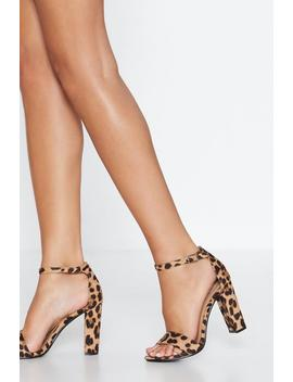 Leopard Immi Suede Block Heel 2 Part by Nasty Gal