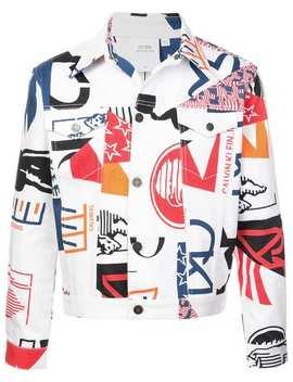 'americana' Jeansjacke Mit Print by Calvin Klein 205 W39nyc