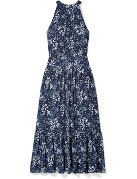 Floral Print Cloqué Midi Dress by Michael Michael Kors