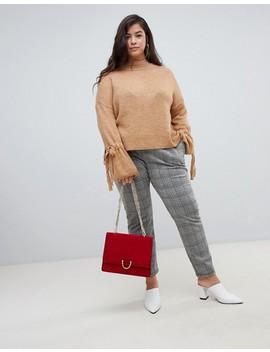 Vero Moda Curve Tie Cuff Knitted Jumper by Vero Moda
