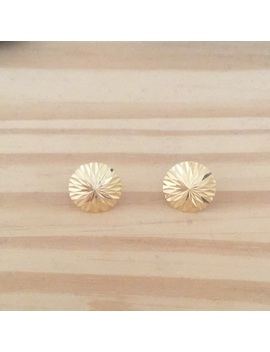 Sunburst Stud Earrings (Vintage) 14k Real Gold by Vintage