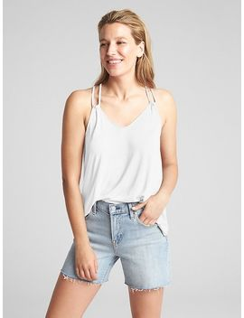 Strappy Print V Neck Cami by Gap
