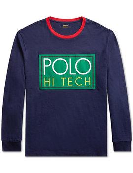 Men's Hi Tech Logo Graphic Long Sleeve T Shirt by Polo Ralph Lauren
