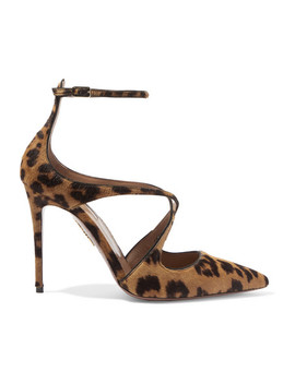 Viviana Leopard Print Calf Hair And Leather Pumps by Aquazzura