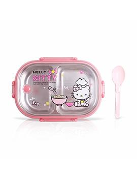 Finex Hello Kitty Chef Pink Bento Lunch Box Set With Clear Lid & Spoon by Finex