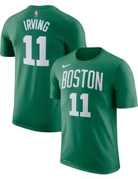 Nike Men's Boston Celtics Kyrie Irving #11 Dri Fit Kelly Green T Shirt by Nike